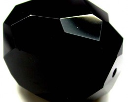 BLACK ONYX BEAD FACETED   133  CTS   ADG-791