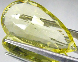 CERT FACETED CITRINE GEMSTONE 14.19 CTS 0186