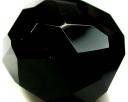 BLACK ONYX BEAD FACETED   142 CTS   ADG-787