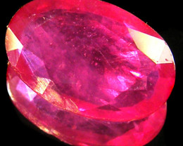 CERT EYE CLEAN RASBERRY RED RUBIES 3.12 CTS 0330
