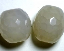 WEB AGATE DRILLED NATURAL 2PC 39.60CTS NP-1237