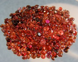 CERT PARCEL FACETED GARNET GEMSTONES 40.13 CTS 0082