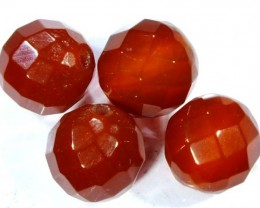 CARNELIAN FACETED BEADS ( 4 PCS) 9.7 CTS NP-1077