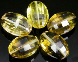 CERT BI COLOUR CITRINE FACETED BEADS 55.12 CTS 0339