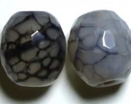 WEB AGATE DRILLED NATURAL 2PC 37.35CTS NP-1236