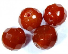 CARNELIAN FACETED BEADS (4 PCS) 10.2 CTS NP-1073