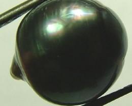 TAHITIAN PEARLS -BLACK BAROQUE PEARL-  12/13  MM [PF1135 ]
