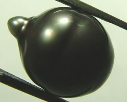 TAHITIAN PEARLS -BLACK BAROQUE PEARL-  12/13  MM [PF1138 ]