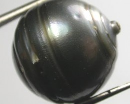 TAHITIAN PEARLS -BLACK BAROQUE PEARL-  14/15  MM [PF1145 ]