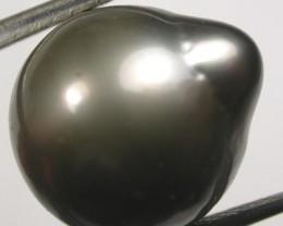 TAHITIAN PEARLS -BLACK BAROQUE PEARL-  13/14  MM [PF1151 ]
