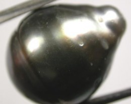TAHITIAN PEARLS -BLACK BAROQUE PEARL-  13/14  MM [PF1156 ]