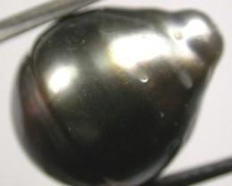 TAHITIAN PEARLS -BLACK BAROQUE PEARL-  13/14  MM [PF1156 ]