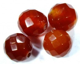 CARNELIAN FACETED BEADS (4 PCS) 10 CTS NP-1072