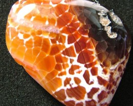 LARGE AGATE  FIRE  BEADS  DRILLED  95.25 CTS [MX5045]