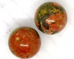 BEAUTIFUL UNAKITE STONE 2 PCS, DRILLED 42.35 CTS  NP-1317