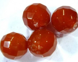 CARNELIAN FACETED BEADS (4 PCS) 9.2 CTS  NP-1086