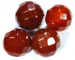 CARNELIAN FACETED BEADS (4 PCS) 11.1 CTS  NP-1085