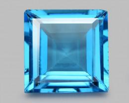 London Blue Topaz 5.06 Cts Princess Rare Fancy Natural Gemstone