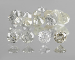Untreated Diamond 0.32 Cts Sparkling Fancy Multi color Natural Diamond