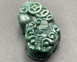 134.20 Cts Beautifully Hand Carving  Jade. Jdp-663
