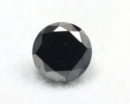 Black Diamond 1.74Ct Round Cut Natural Black Color Diamond BM902