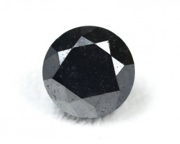 Black Diamond 6.33Ct Round Cut Natural Black Color Diamond BM915
