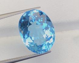 Splendid 16.05 Carat Natural Stunning Swiss Blue Topaz