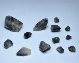 Amazing Natural color gemmy quality blue Sapphire crystals Rough60Cts601