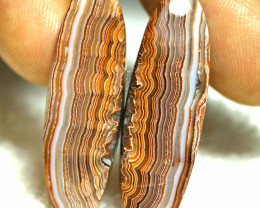 29.2 Tcw. Matched Lace Agate Cabochons (38mm) - Gorgeous