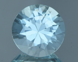 Flawless 5.28Ct Aquamarine Step Brilliant Cut Gemstone