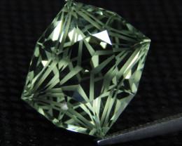 8.09Cts Stunning Natural Green Amethyst (prasiolite) Cushion Custom Cut