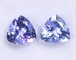 2.02cts Natural Tanzanite Gemstone Pairs / TKL1771