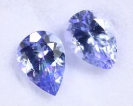 3.33cts Natural Tanzanite Gemstone Pairs / TKL1777