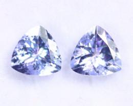 1.86cts Natural Tanzanite Gemstone Pairs / TKL1778