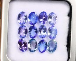7.56cts Natural Tanzanite Gemstone LOTS / AAKL1786