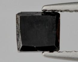 Black Diamond  0.56 Cts Princess Natural Fancy 100% Black Diamond