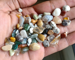 200 Ct Tumbled Gemstones Mix Lot 100% NATURAL AND UNTREATED VA2074