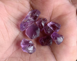 50 Ct Amethyst Rough Gemstone Parcel 100% NATURAL AND UNTREATED VA2079