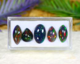 10.79Ct Natural Flash Color Ethiopian Welo Black Smoked Opal Lot C2219