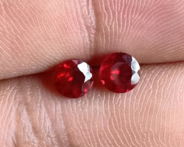 5x5 mm Round Garnet Gemstone Pair 100% NATURAL AND UNTREATED VA2097