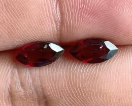 10x5 mm Garnet Pair Marquise cut 100% NATURAL AND UNTREATED VA2100