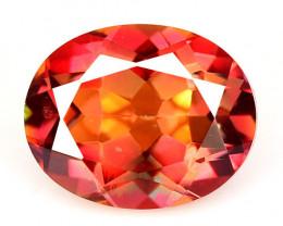 Mystic Topaz 2.61 Cts  Rare Fancy Orange Red Color Natural Gemstone