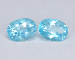Mystic Topaz 1.89 Cts Rare Sea Blue Color Natural Gemstone - Pair