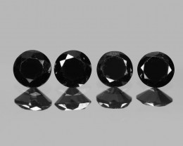 Diamond 0.49 Cts 4 Pcs Natural Fancy 100% Black Diamond