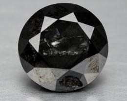 Diamond 0.99 Cts Natural Fancy 100% Black Diamond