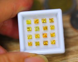 2.58ct Natural Yellow Sapphire Princess Cut Lot GW9946