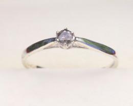 Grey Diamond 0.88g Natural Untreated Fancy Grey Diamond Silver Ring NXS31
