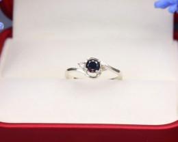Black Diamond 1.26g Natural Untreated Black Diamond Silver Ring NXS40