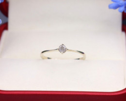 Grey Diamond 0.97g Natural Untreated Fancy Grey Diamond Silver Ring NXS84