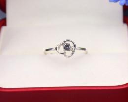 Grey Diamond 1.02g Natural Untreated Fancy Grey Diamond Silver Ring NXS098